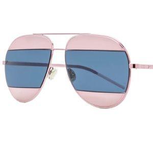 DIOR Split1 59mm Aviator Sunglasses Pink & Blue